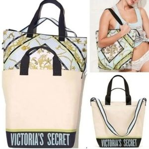 New Victoria's Secret Cooler Beach Tote Bag Set